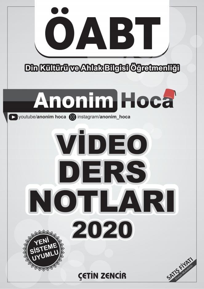 anonim hoca video ders notu